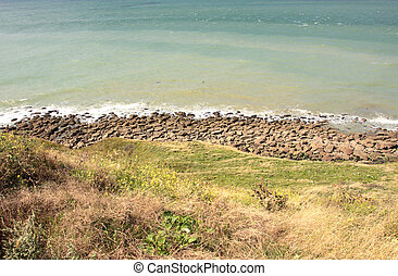 landscape of the Opal Coast in France