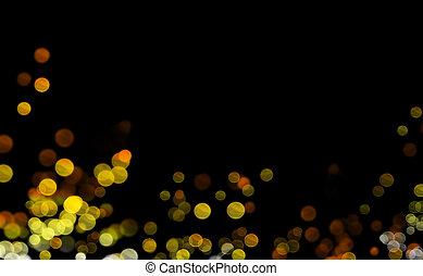 yellow light - Luminescence in the dark, a background with...