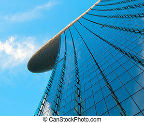 Skyscraper over blue sky