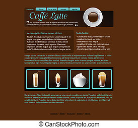 web site design template, coffee house theme