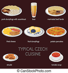 czech food - typical czech cuisine - few typical czech food