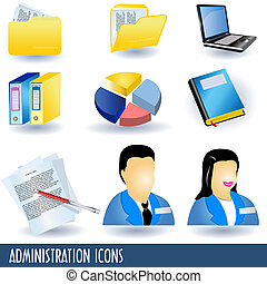 Administration Icons - A collection of nine administration...