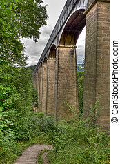 Pontcysyllte Aqueduct on the Llangollen canal near Trefor...