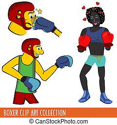 boxer clip art collection