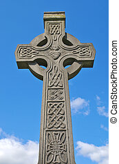 Irish celtic cross with celtic designs - Example of pre 1900...