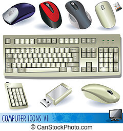 Computer icons 6 - A collection of computer icons - keyboard...
