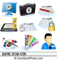 Graphic Design Icons - Collection of graphic design icons,...