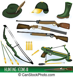 Hunting icons 2 - Collection of hunting icons illustrations...