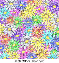Abstract flower background - Abstract vector background with...