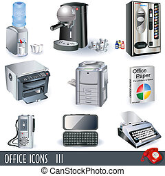 Office icons 3 - A collection of color office icons - part...