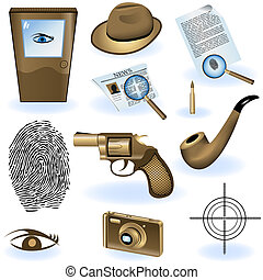 Private detective collection - A collection of different...