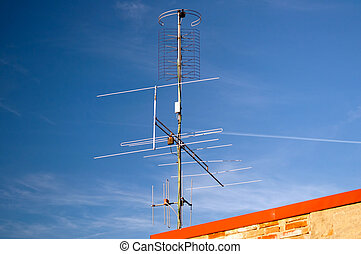 Aerial Television Antenna - Aerial television antenna during...