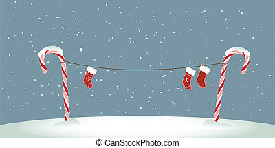 Cany cane clothesline - Candy cane clothes line with...