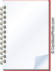 notepad - vector illustration of notepad