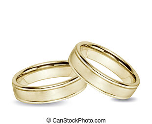 Wedding gold Rings Vector - Wedding gold Rings isolated...