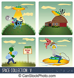 Space Collection - Space collection 5, aliens in different...