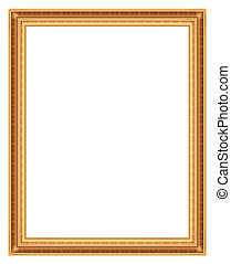 frame bronze - Frame bronze for pictures isolated on white...