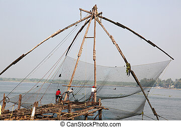 Chinese fishernets Kochi - Chinese fishernets in the...