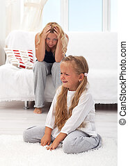 Kid having a tantrum - Little girl having a temper tantrum...