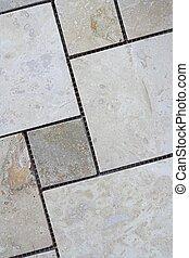 Travertine Tiles - Sheet of travertine tiles ready to be...