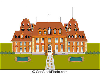 cute card. castle vector