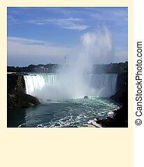 Polaroid photo frame. Niagara Falls