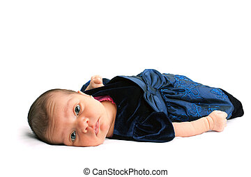 Cute Little Newborn Baby Girl - A cute newborn baby infant...