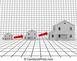 Real estate  - Increase in the sizes of the house