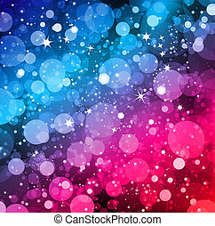 Magic Lights background. Vector - Electric lights with...