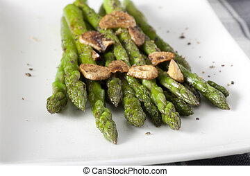 Asparagus Appetizer - Asparagus appetizer with sauteed...