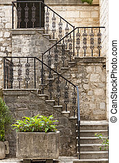 Beauty pattern stairs - Kotor Montenegro - Kotor,...