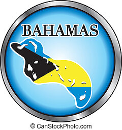 Bahamas Round Button - Vector Illustration for the Bahamas,...
