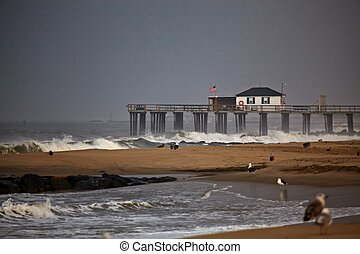 New Jersey shore - Asbury Park New Jersey before Hurricane...