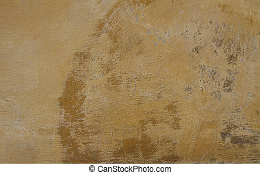 background or texture of a orange painted wheatered wall