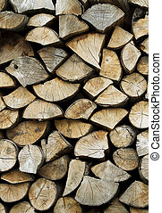 background or texture of a pile of fire wood