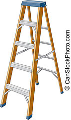 Step Ladder - Illustration of a step ladder