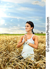 Meditating in the field