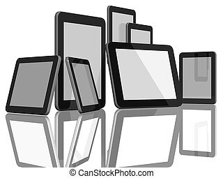 Group of Tablet Computers