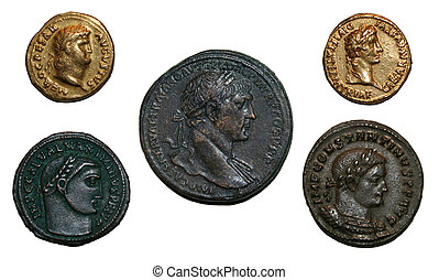 Roman Empire Coins - Coins from the Roman empire featuring...