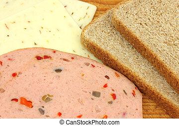 Makings of sandwich