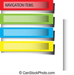 color navigation bars