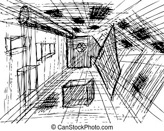 hand drawn design and architecture background