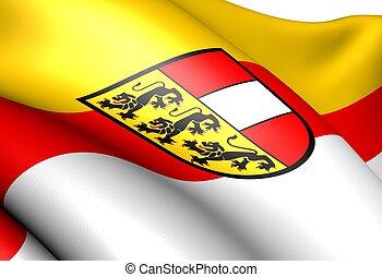 Flag of Carinthia. Close up.