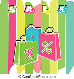 Sale shopping bags. EPS10