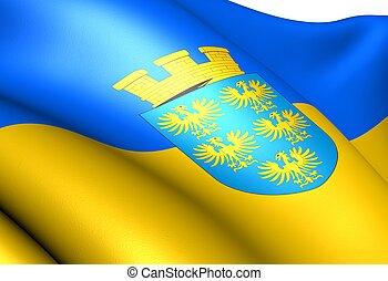 Flag of Lower Austria. Close up.