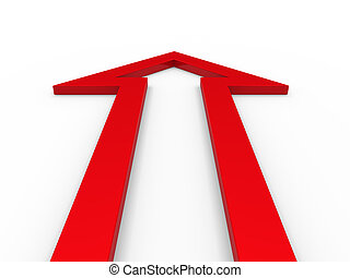 3d arrow red up