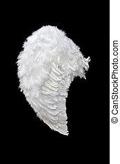 白色, 天使, 機翼