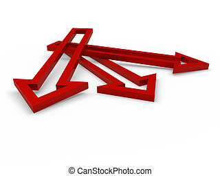 3d arrow red