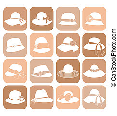 Elegant Hats icon Set