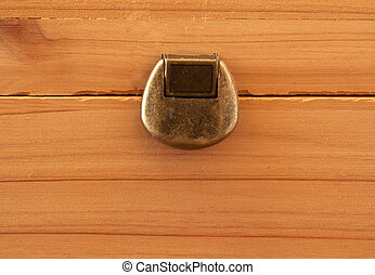 Lock - Old metal lock over a wooden background